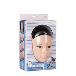 Φουσκωτή κούκλα με ρεαλιστικό 3D πρόσωπο, αληθινά μαλλιά