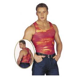 Αμάνικο μπλουζάκι με αθλητικό κόψιμο στο πίσω μέρος