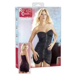 Στράπλες μίνι ελαστικό φόρεμα μαύρου χρώματος