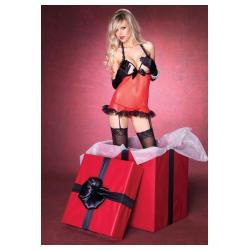 Το τέλειο δώρο! Κόκκινο μίνι φορεματάκι από διαφάνεια